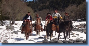 Ted's group on the crossing the andes ride january 2010