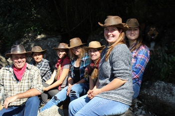 Our team for horseback rides in southern Chile, season 2014-15